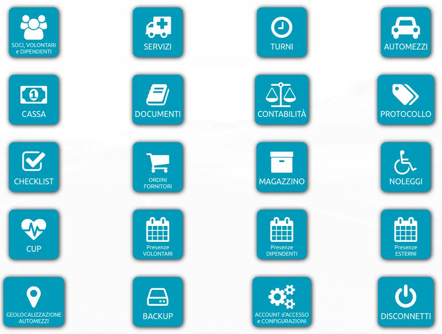 esempio homepage gestionale
